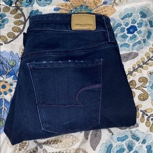 Women's dark jeans